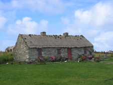 Ireland thatch roof cottage