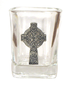 Celtic Ireland Shot Glass 2oz Celtic Cross Limited Edition