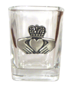 Celtic Ireland Shot Glass 2oz Claddagh Limited Edition