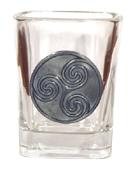 Celtic Ireland Shot Glass 2oz Newgrange Spiral