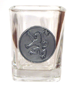 Celtic Shot Glass 2oz Rampant Lion