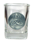 Celtic Ireland Shot Glass 2oz Trinity