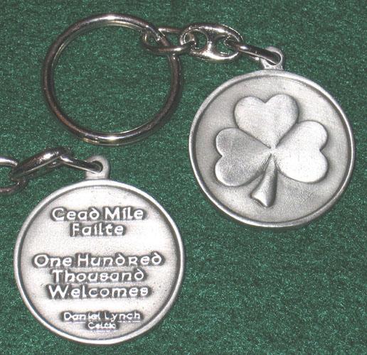 Shamrock Keychain. Celtic