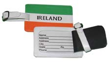 Celtic Ireland Irish Flag Luggage Tags Leather LTI