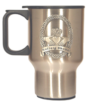 Celtic Ireland Irish Claddagh Nolliag Stainless Steel Travel Mug