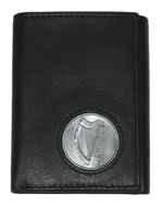 Celtic Ireland Trifold Wallet with Brian Boru Harp Emblem