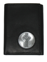 Celtic Ireland Trifold Wallet with Celtic Cross Emblem