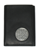 Celtic Ireland Trifold Wallet with Eternity Knot Emblem