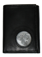 Celtic Ireland Trifold Wallet with Newgrange Spirla Emblem