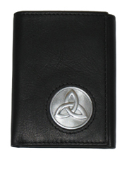 Celtic Ireland Trifold Wallet with Trinity Knot Emblem