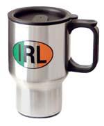 Celtic Ireland Irish IRL Printed Logo Design Stainless Steel Travel Mug